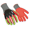finger protection nitrile coated kevlar impact palm knife gloves cut resistant