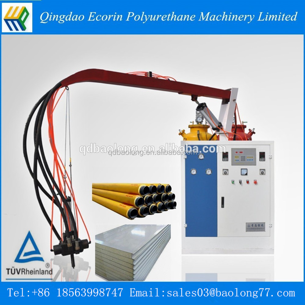 low pressure polyurethane pipe insulation self-cleaning machine/pu foam insulation pipe injection machine/pu foam injection