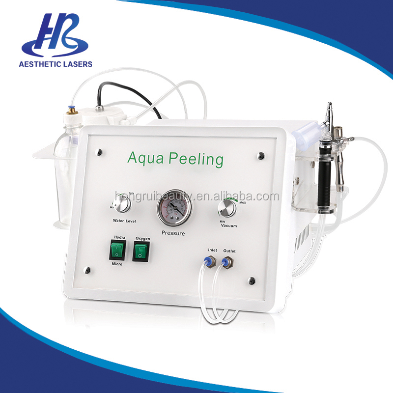 Beauty Salon Spa Using Wrinkle Removal Skin Peeling Dermabrasion Facial Care Machine