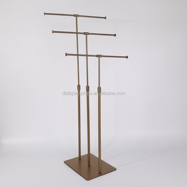 High end display rack for Tie, clothes shop metal display rack T-Style for Garment dispaly