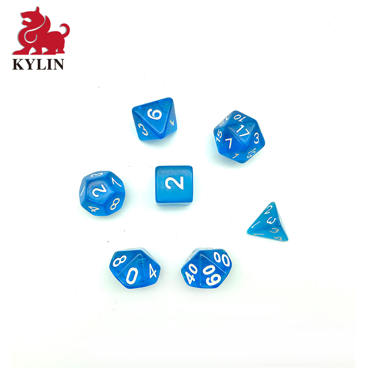 Bulk Sales Table Game Polyhedral Side Colorful 7 Pieces D4 D6 D8 <strong>D10</strong> D12 D20 16mm DND Polyhedral Dice Set