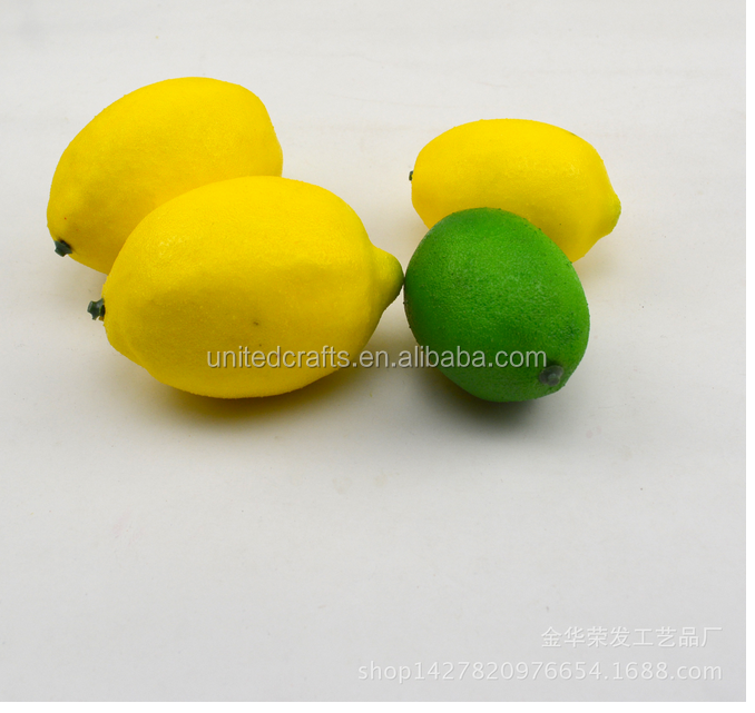 plastic lemon fruit for decoration