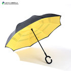 high quality double layer reverse umbrella with fiberglass