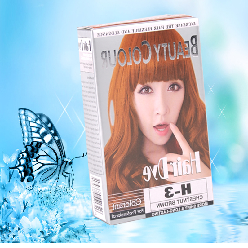 Chestnut brown nourishing and fashionable professional hair color cream