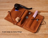 Leather tobacco pouch, fashion wholesale tobacco bag, soft cow leather case