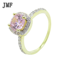 wholesale high-grade diamond crystal fashion women ring 24 k gold plating factory outlet silver ring jewelry