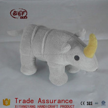 plush rhinoceros toys/stuffed gray rhino