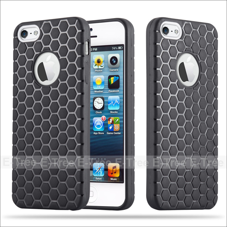 Shock Resistant TPU Back Cover Phone Case for iPhone5