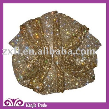 Wholesale 4mm AAA grade Crystal Gold Rhinestone Mesh