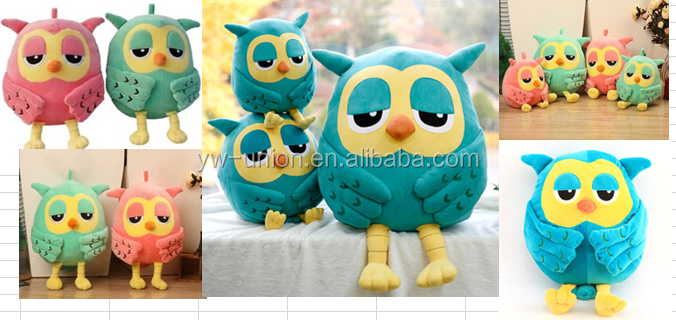 Plush kids toy Stuffed owl with wings plush owl , animal owl soft plush toy