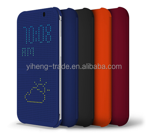 For HTC M8 Dot view smart cover case High Quality Samrt case for HTC m8