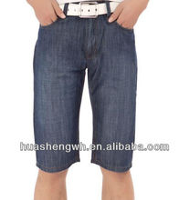 Fashion denim mens high waist shorts