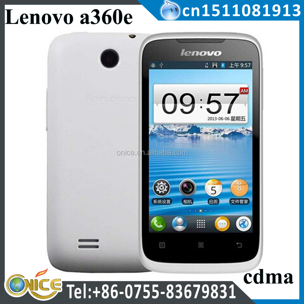 cheapest android cdma phone new original lenovo a360e cdma 800 mhz with wifi CPU model Qualcomm Xiaolong Snapdragon MSM7627A