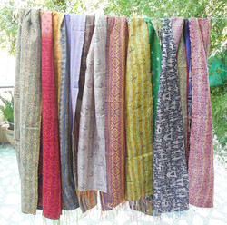 Kantha Shawl /stoles/ Scarves Manufacturer supplier exporter India