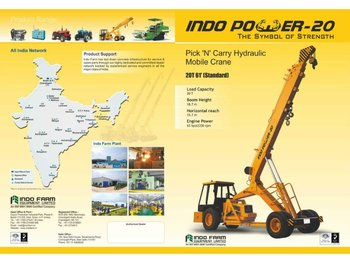 Hydraulic Pick and Carry Mobile Crane Supplier India