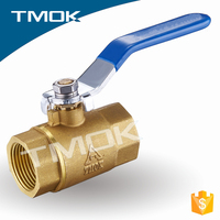 Blue long handle Brass Body Hydraulic Material With cw617n And Blasting Motorize NPTBrass Ball Valve