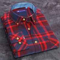 Professional Custom Design Bulk cheap price 28 colors big check cotton latest new model shirts