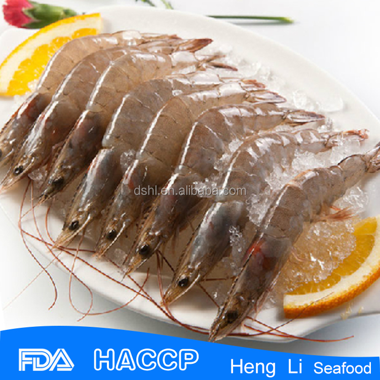 HL002 shrimp exporters seafood frozen raw vannamei white shrimp