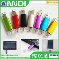 2015 Factory price custom mobile phone OTG usb flash drive for Android and for iphone