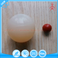 "Customized plastic products 1"" solid white plastic balls"