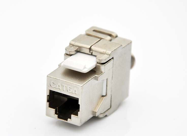 10GB Network Cat6A RJ45 Shielded Keystone Jack Network Connector