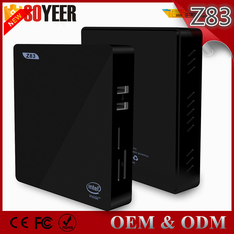Mini Pc Windows10 Pro Oem Key 5 Languages 2G 32G Bt Z83-V Windows 10 Tv Box 4K