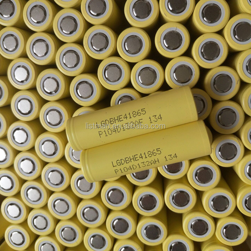 100% original LG HE4/LG HE2/LG HG2 18650 battery grade A quality LG HE4 18650 2500mah li-ion battery yellow LG he4 battery