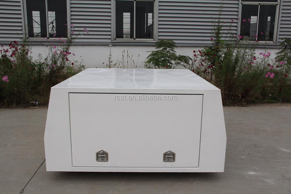 Powder coated White Alloy Canopy, Aluminum UTE Canopy UTE Toolbox /3 Doors