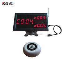 Wireless Table Calling System 433mhz Wireless Servant Call For Restaurant , Counter Pager Service With Durable Material