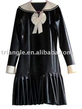 Latex maid -dress, school girl dress