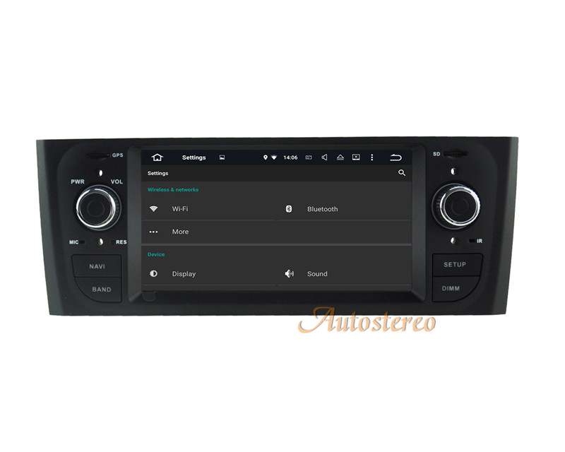 "Android 5.1 Car Radio 6.2"" DVD Capacitive Touch Screen High Definition 1024x600 for FIAT Punto 2005-2009 Linea 2007-2011"