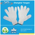 raw white cotton working gloves oil resistant working gloves