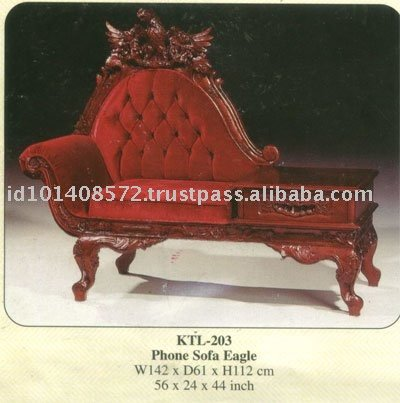 Phone Sofa Eagle Mahogany Indoor Furniture