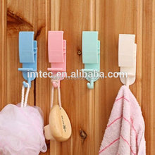wholesale Plastic Adhesive Wall Door Hook Hanger Bag Keys Bathroom Kitchen Sticky
