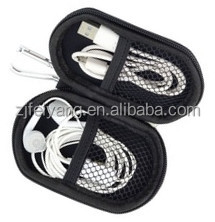 Mini Earphone ODM custom carrying PU top quality cheap EVA portable electronical hot sale case/bag with mesh pocket