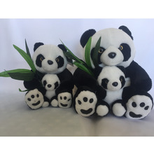 2018 Soft Stuffed Toy Animal Cheap Lovely Plush Fat Panda Toy With Baby Set