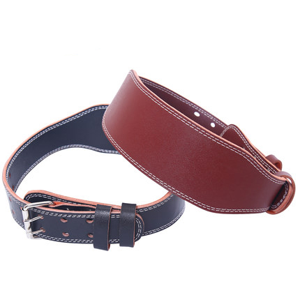 Double leather professional fitness <strong>weight</strong> lifting belt