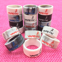 2018 New Arrival Trending Products Popular Custom Silicone Rubber Vape rings 22mm diameter non-stick silicone rubber vapeband