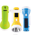 JA-1909 1W LED Solar flashlight Torch with 10SMD side light
