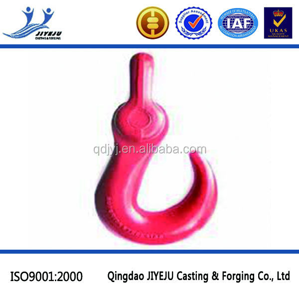 Hardware Rigging forged painted red wire rope clamp hook
