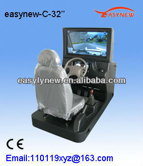 Car drive training simulator with big size 32 inches display