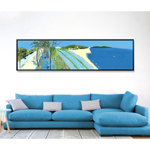 wholesale beautiful Natural village Scenery decor abstract oil painting for living room