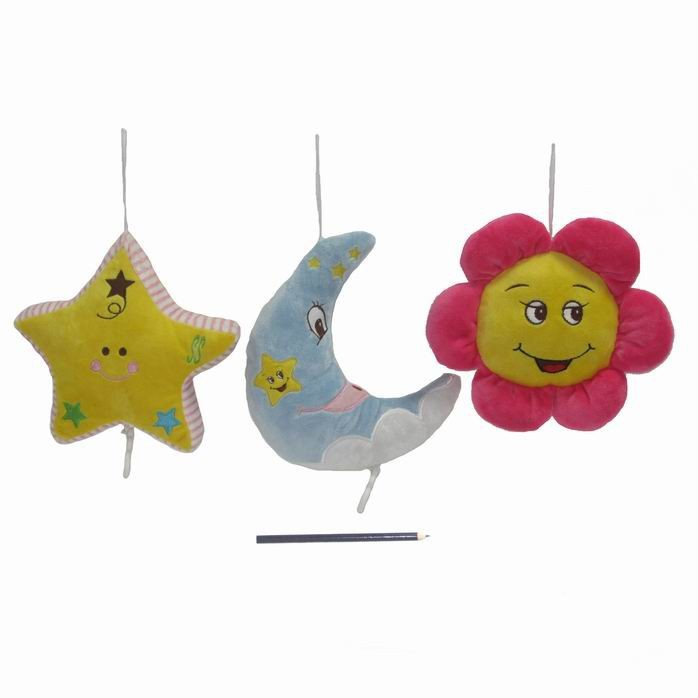 Best Selling Plush Hanging Moon and star and sunflower Toy