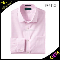 Funky pink hot selling famous brand shirts for men