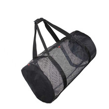 Shenzhen Factory Durable mesh bag, Sport Gym Mesh Roll Bag, Black