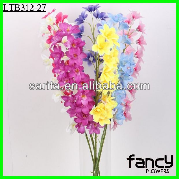 cheap wholesale artificial single stem silk gladiolus flowers