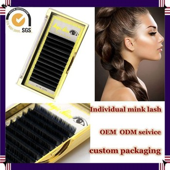 Milkyway hot sell wholesale all size J B C D curl thick 100% real mink individual lash,mink lash extensions