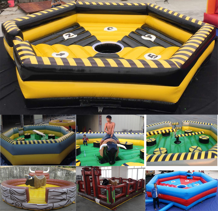 3 In 1 Meltdown Rodeo Ride Mechanical Bull Price, Inflatable Kids And Adults Mechanical Bull Price