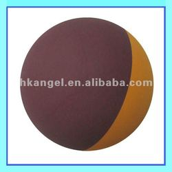 high bounce hollow rubber ball with brown and orange color