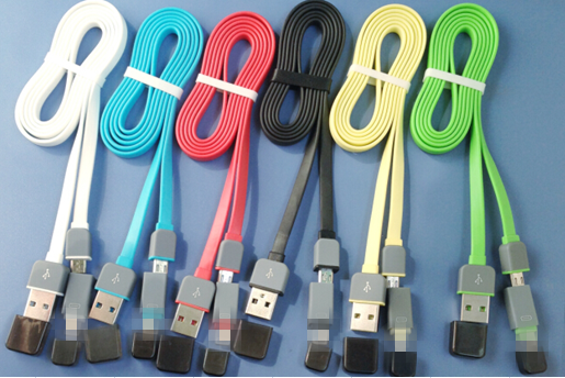 2 in1 usb cable usb data cable for iphone/samsung